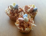 Simple Easter Bird's Nest Cupcakes